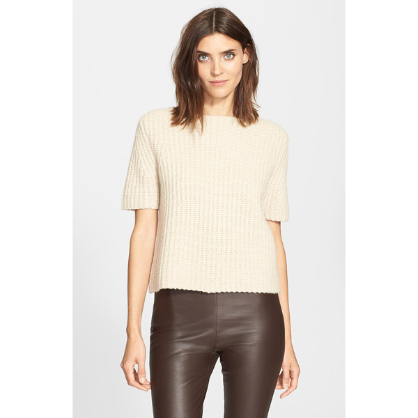 THEORY edalina wool & cashmere sweater - Cable knitting lends incredible texture to a...