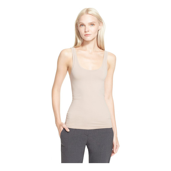 THEORY fliore u-neck stretch tank - Dramatically dipped in front and back, the smooth stretch...
