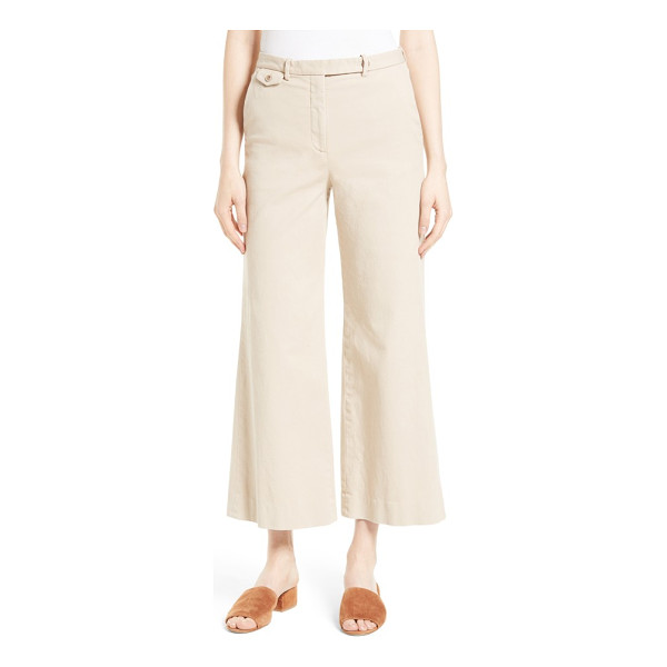 THEORY nadeema crop flare leg chinos - Blending tailored polish with relaxed ease, woven-linen...
