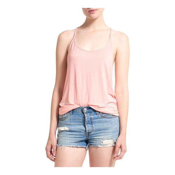 THIEVES LIKE US racerback tank - A silky jersey tank with the perfect amount of slouch has a...