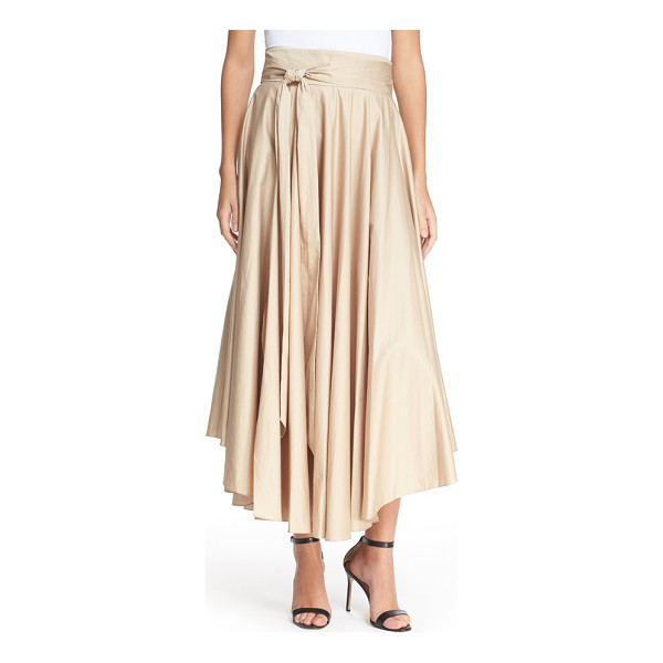 TIBI belted cotton maxi skirt - Lightweight cotton falls in lush ripples on this full maxi...