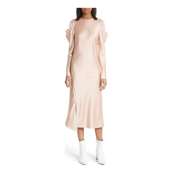 TIBI celestia drape sleeve midi dress - Artfully draped sleeves bring modern romance to an A-line...