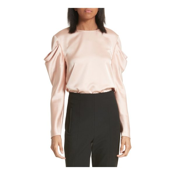 TIBI celestia drape sleeve top - Artful draping at the shoulders creates the beautifully...