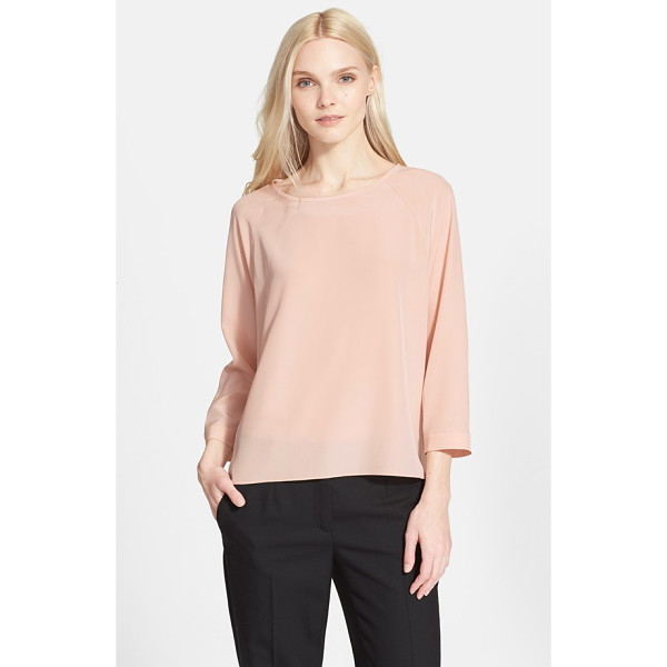 TIBI silk blouse - Three-quarter raglan sleeves and a relaxed, floaty fit lend...