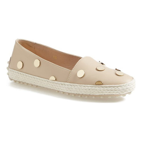 TOD'S leather espadrille flat - This season's must-have espadrille gets a posh update with...