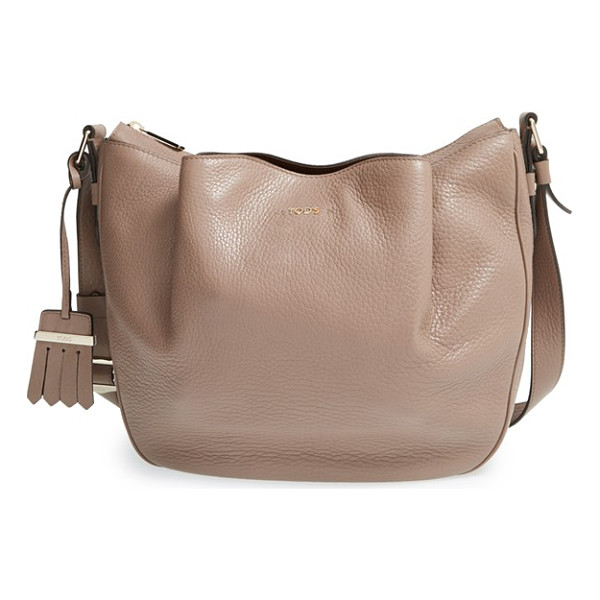TOD'S Small flower leather crossbody bag - Superbly crafted, the softly structured Flower bag in...