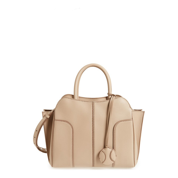 TOD'S small sella leather satchel - Impeccable topstitching and curvaceous paneling elevate a