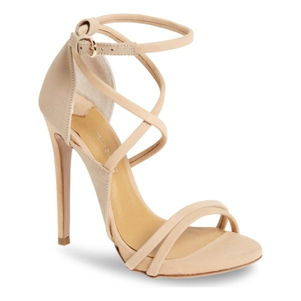 TONY BIANCO alita strappy sandal - Sinuous straps and mixed-finish leather lend uptown appeal...