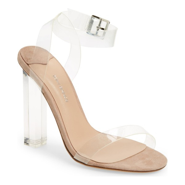 TONY BIANCO kiki sandal - A transparent heel and straps add plenty of modern flair to...