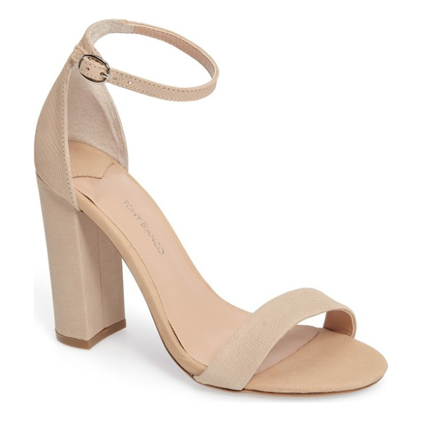 TONY BIANCO kokomo strappy sandal - Barely there toe and ankle straps crafted from textured...