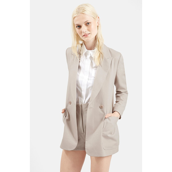 TOPSHOP 70s twill longline jacket - Oversized patch pockets accentuate the retro silhouette of...