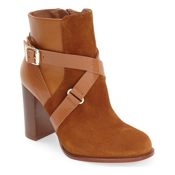 TOPSHOP aroma ankle boot - Reptile-embossed straps embellished by gleaming hardware...