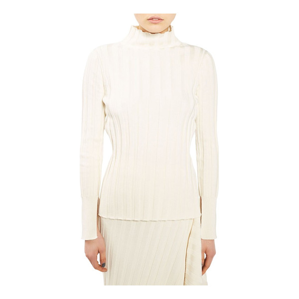 TOPSHOP BOUTIQUE funnel neck sweater - Wide ribbing accentuates the chic slender fit of a...