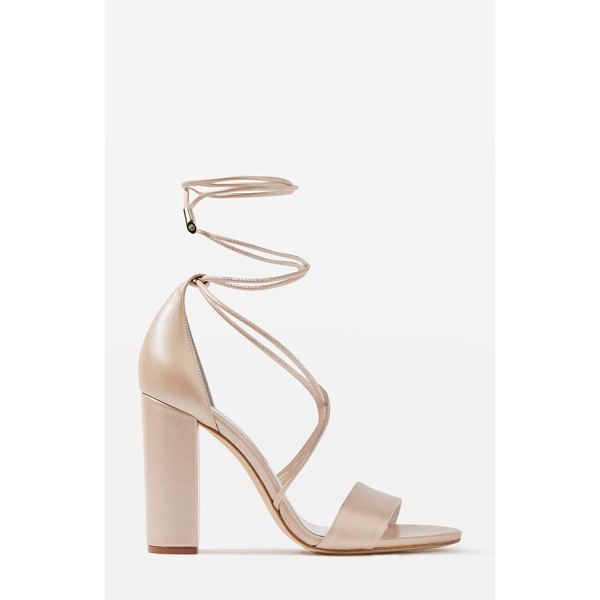 TOPSHOP bride beatrix lace-up sandals - Shimmery leather sandals offer a modern take on shoes for