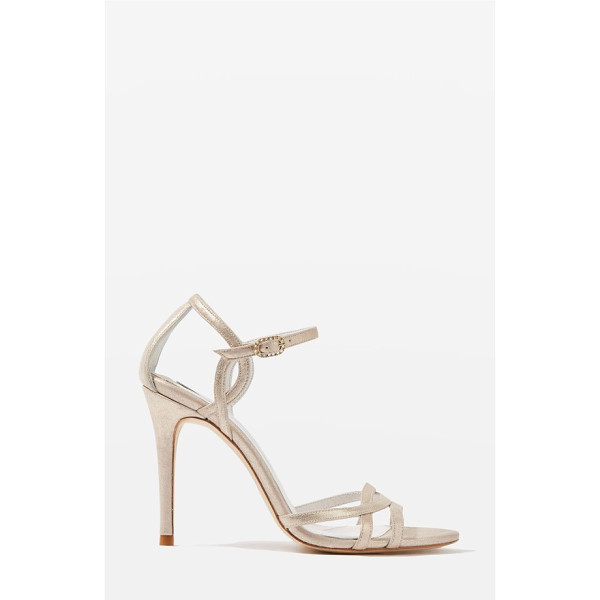 TOPSHOP bride belle strappy sandals - Curvy straps at the vamp and ankle add vintage-inspired...