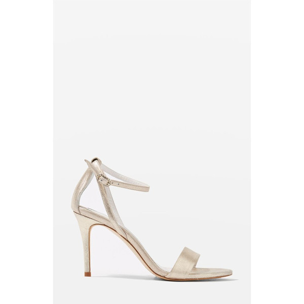 TOPSHOP bride betsy ankle strap sandals - Sleek ankle strap sandals in shimmery leather boast a...