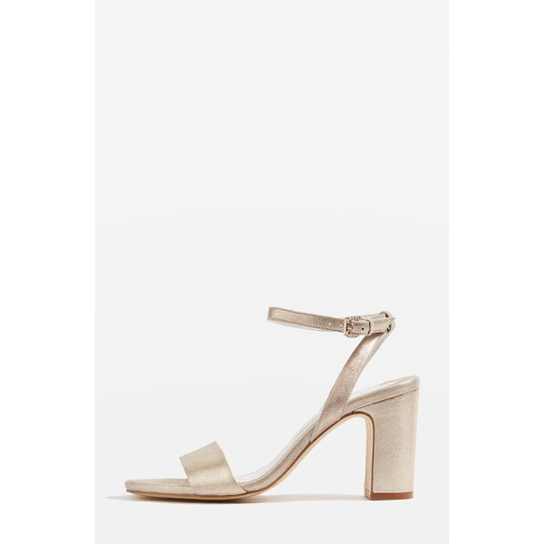 TOPSHOP bride bette ankle strap sandals - A trend-forward block heel adds a modern touch to a sleek...