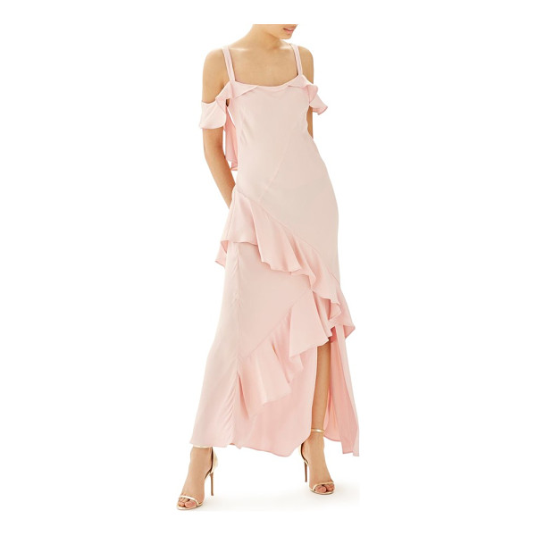 TOPSHOP bride cold shoulder ruffle gown - This ethereal gown in a soft pastel hue will look great...