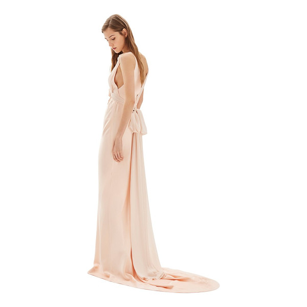 TOPSHOP bride floral applique sheath gown - Made from a luscious mix of satin and georgette, this...