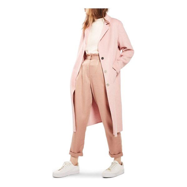 TOPSHOP butted seam duster coat - This smooth wool-infused coat refreshes your autumnal...
