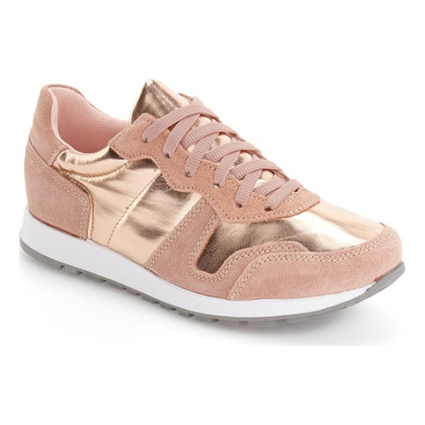 TOPSHOP charlie sneaker - Trend-savvy metallic and rich suede grounds your streetwise...