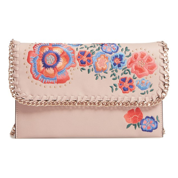 TOPSHOP chester floral faux leather crossbody bag - A soft, low-profile faux leather crossbody strikes lovely...