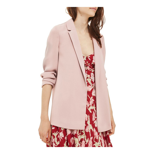 TOPSHOP chuck on blazer - Add a little sartorial swank to your look with this...