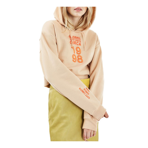 TOPSHOP circa '98 crop hoodie - Your casual-cool uniform knows no boundaries, including...