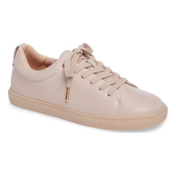 TOPSHOP coffee sneaker - Smooth faux leather in light, neutral hues and gleaming...