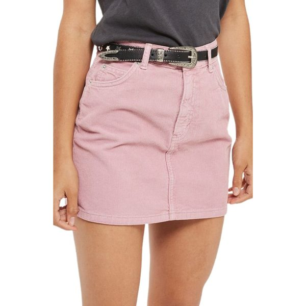 TOPSHOP corduroy miniskirt - Rich cotton corduroy adds cozy texture to a flirty,...