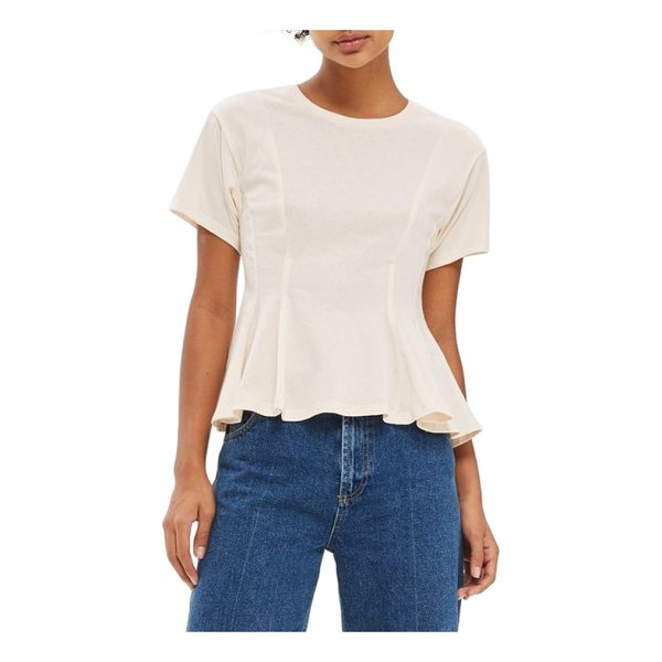 TOPSHOP corset seam tee - A classic tee in soft cotton jersey gets a feminine...