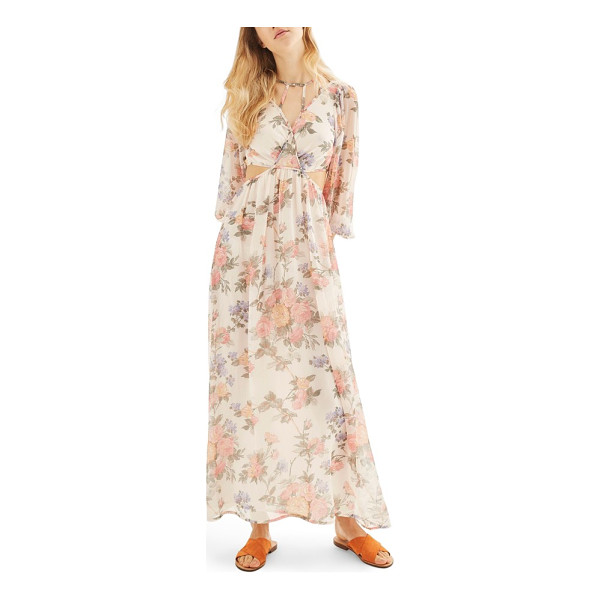 TOPSHOP crinkle floral maxi dress - Float on, you modern Mother Nature, in this cutout and...