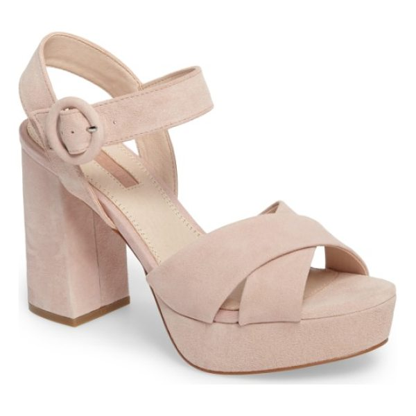 TOPSHOP cross strap platform sandal - A flared block heel and chunky platform add some serious...