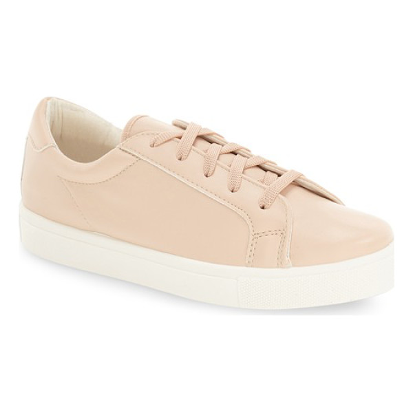 TOPSHOP cyprus embossed sneaker - A snake-embossed, faux-leather finish puts an edgy twist on...