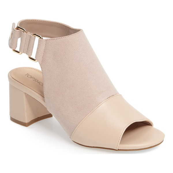 TOPSHOP duke block heel faux leather sandal - A sturdy block heel lifts your confidence in these...