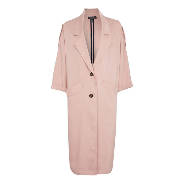 TOPSHOP duster coat - Fit for an '80s lady-boss with its slouchy, oversized...