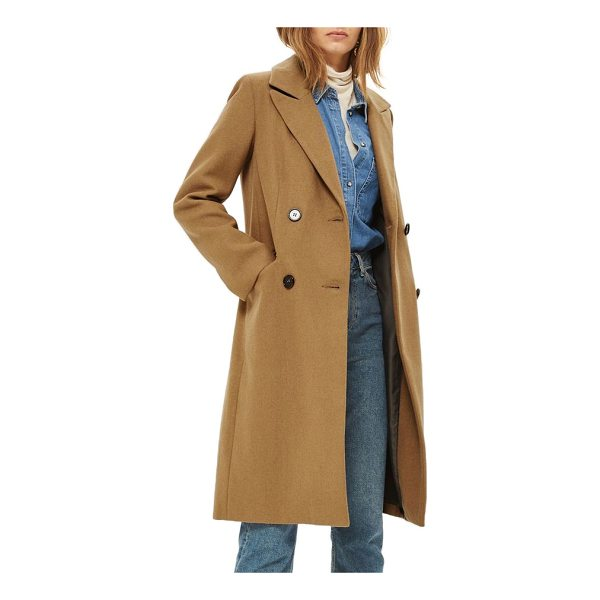 TOPSHOP editors double breasted coat - Warm woolen fabric and traditional double-breasted design...