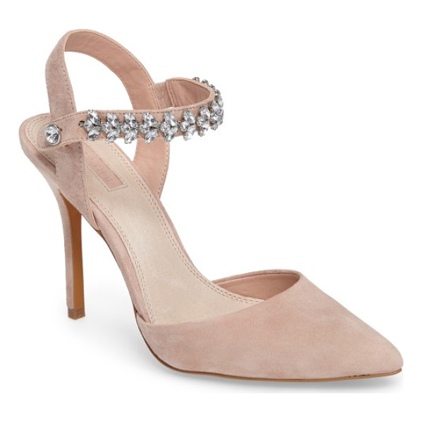 TOPSHOP embellished ankle strap pump - Bring the bling with a pointy-toe pump balanced on a slim...