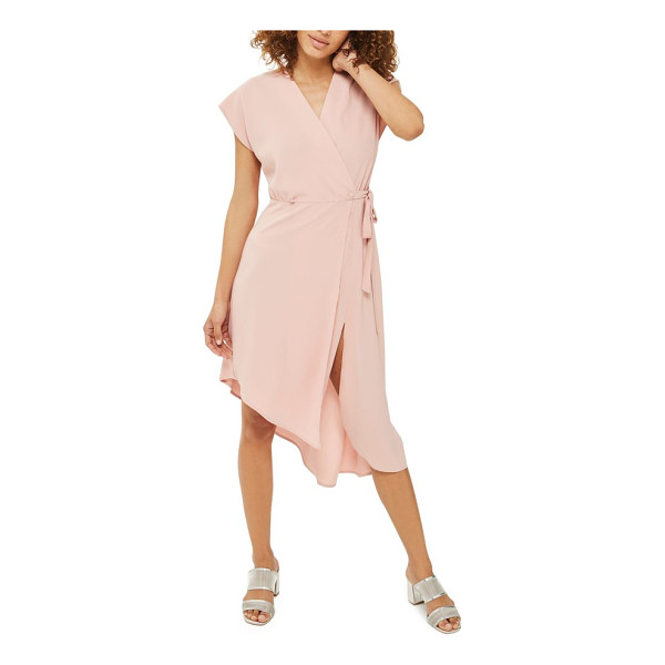 TOPSHOP emily asymmetrical wrap dress - Strut straight from work to your after-hours plans in this...