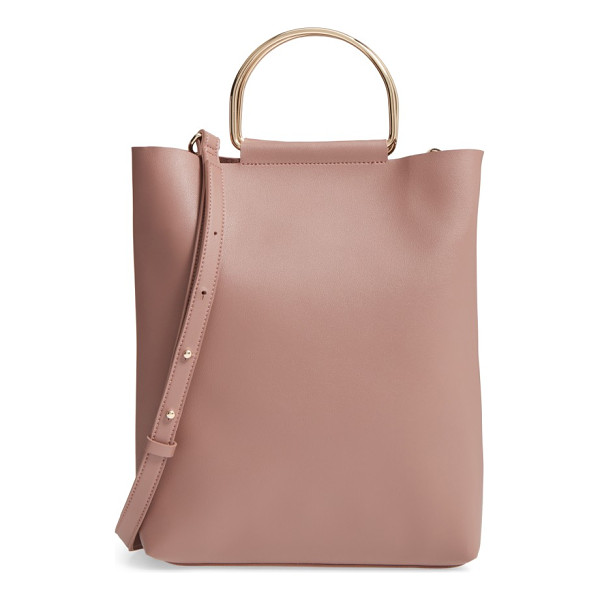 TOPSHOP faux leather tote - Roomy enough for your makeup bag and presentation notes,
