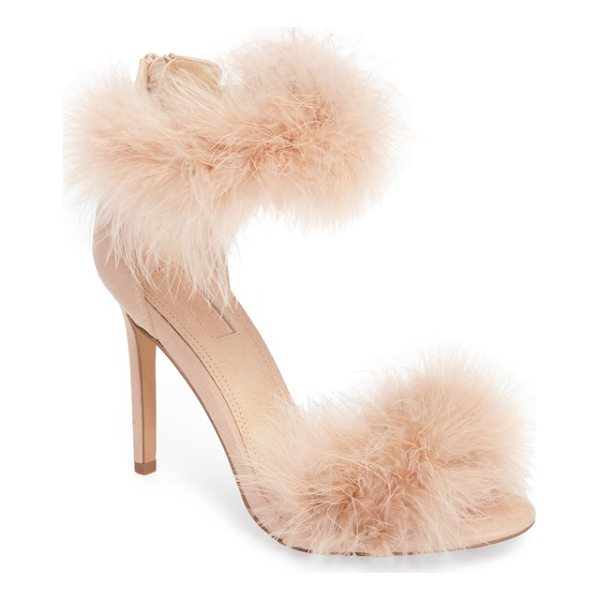 TOPSHOP feather strap sandal - Take flight in sleek stiletto sandals covered with wispy...