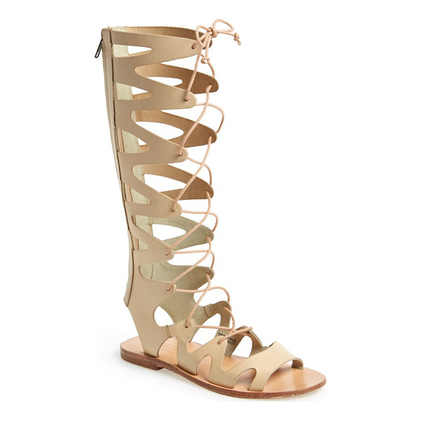 TOPSHOP figtree leather gladiator sandal - A knee-high gladiator sandal stands apart as a striking,...