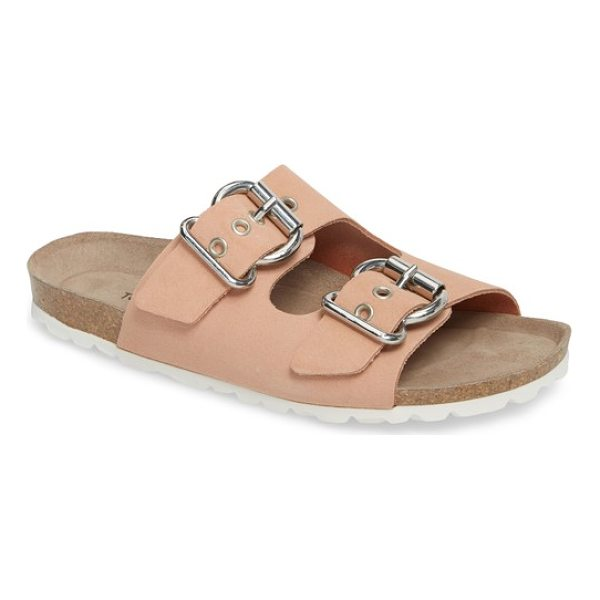 TOPSHOP finch buckle slide - Chunky hourglass buckles top a classic slide sandal made in...