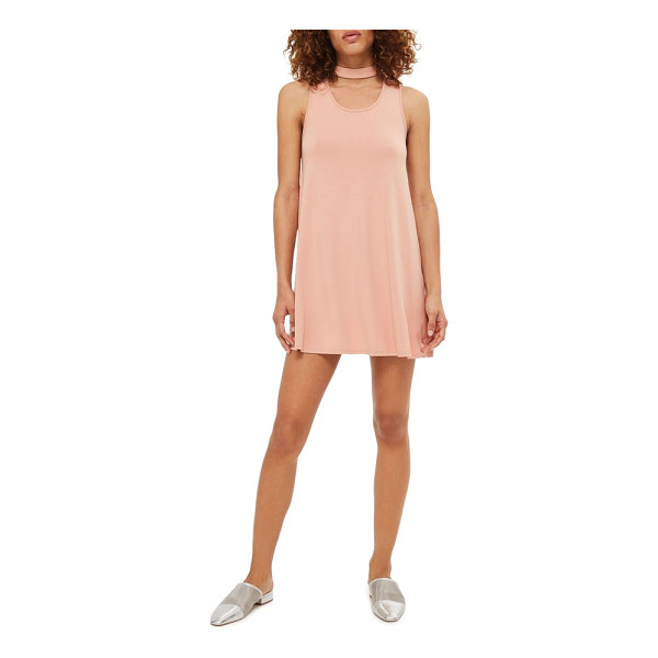 TOPSHOP flippy choker tunic - A swinging, body-skimming jersey tank tunic feels light,...
