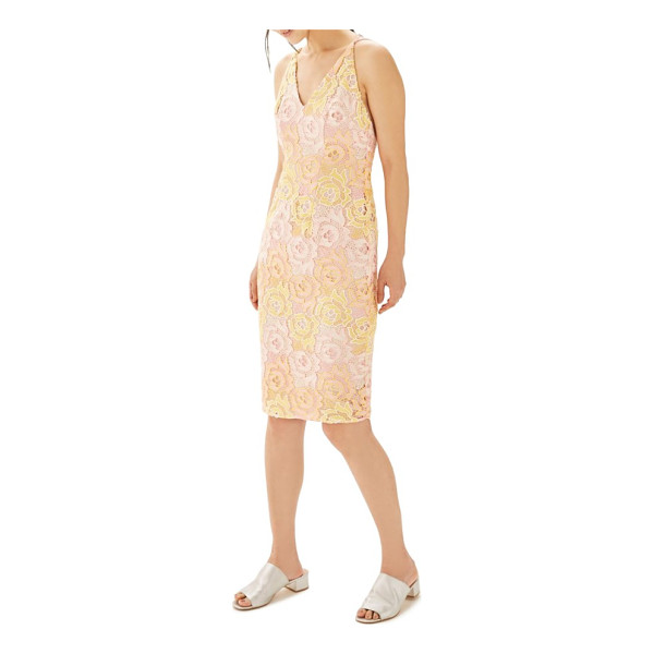 TOPSHOP floral lace sheath dress - Lush roses emerge from the lacy profile, evoking the...