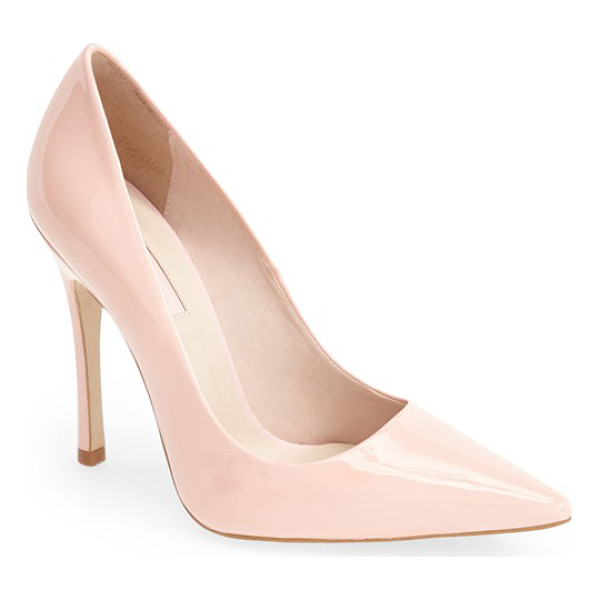 TOPSHOP gallop patent pointy toe pump - A classic pointy-toe pump is crafted from gleaming patent...