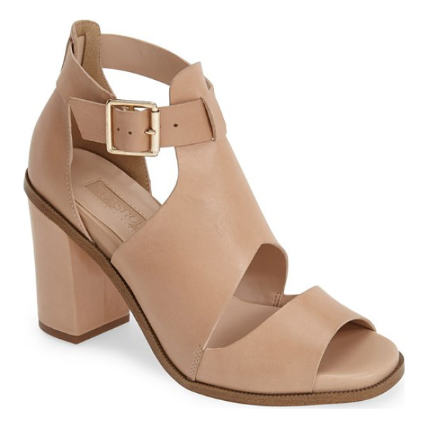 TOPSHOP gambas cutout leather sandal - A chunky half-moon heel supports a modern leather sandal...