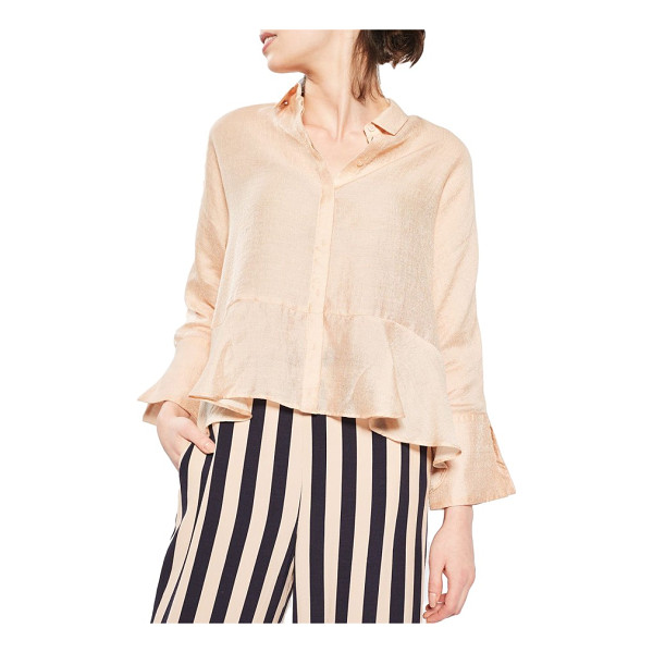TOPSHOP gauzy peplum shirt - Light, luminous and the pretty burst of playful elegance...