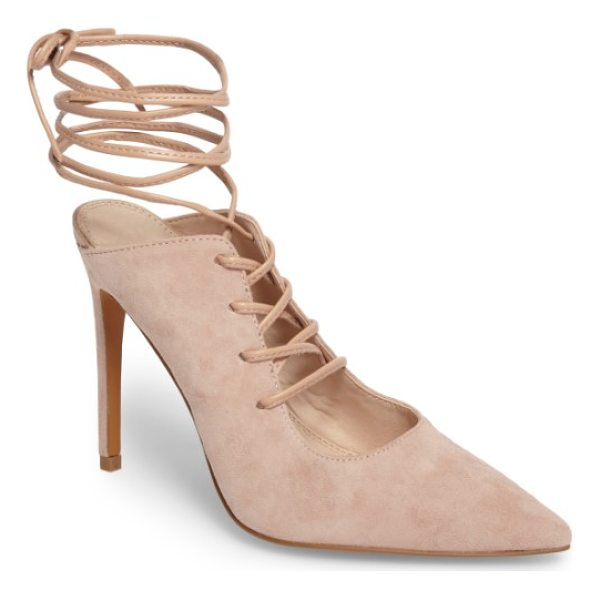 TOPSHOP giggle ghillie pump - Ghillie lacing puts a trend-savvy twist on a shapely...