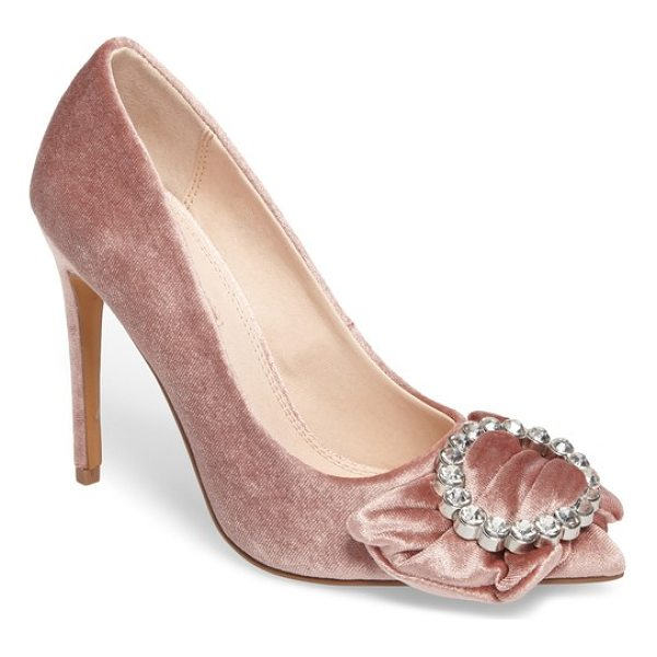 TOPSHOP glamorous bow court pump - A dazzling bejeweled buckle makes a grand statement on the...